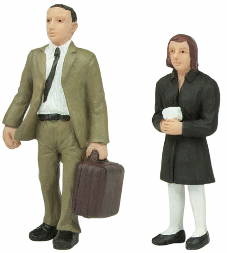 47-409 Scenecraft standing passengers B (pack of 2 figures)